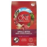 Purina One Smart Blend Beef & Rice Dog Food-8LB