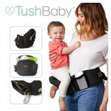 TushBaby Front/Hip Baby Carrier in Black/Gold