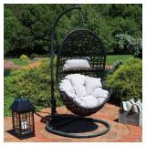 Sunnydaze Decor Outdoor Hanging Egg Patio Lounge
