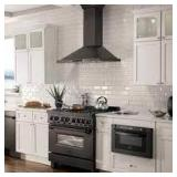 Zline Kitchen & Bath 3pc Range Hood Set Black