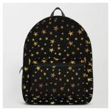 Black Tote Bag with Gold Stars