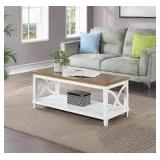 Florence Coffee Table in Driftwood Top/Frame