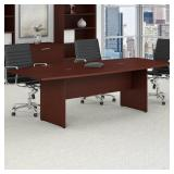 bbf Bush Furniture Conference Table W/ Wooden Base