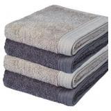5pc Grey Towel Set
