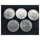1971-76 Eisenhower Dollars 5pcs