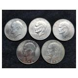 1972-78 Eisenhower Dollars 5pcs