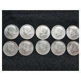 1971-79 Kennedy Half Dollars 10pcs