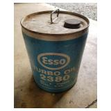 Esso Turbo Oil 5 Gallon Can
