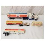 "Esso & Exxon Toy Trucks Up to 10 & 3/4"" Long"