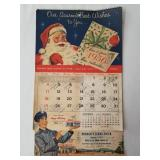 1956 Esso Calendar Spring Church PA