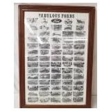 Famous Fords Framed Poster 1896-1940 Cars