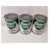 Quaker State Quart Oil Cans Full