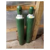 "2 Oxygen Tanks 48"" High"