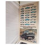 70 Yrs of Ford Trucks Poster 1987 24 x 47 & 1/2""