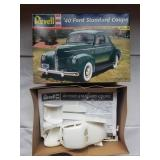 1940 Ford Standard Coupe Model Unbuilt Revell