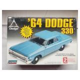 1964 Dodge 330 Model Unbuilt Lindberg Sealed