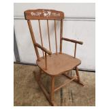 "Childs Wooden Rocker 26"" High"