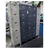Five (5) Steel Locker Sections