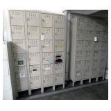 Two (2) Steel Locker Sections