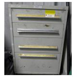 4-Drawer Steel Cabinet With Contents