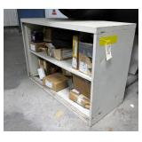 Steel Shelving Unit With Contents