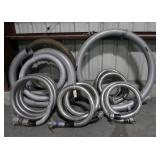 Assorted Flexible Steel Piping