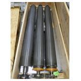 """Three (3) 70"""" x 8"""" Diameter Steel Idler Rolls"""