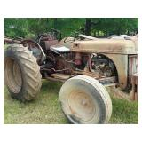 Old Ford tractor with bucket scoop