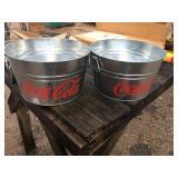 Coke Metal Buckets