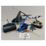 3 RC Helicopters w/Two Remotes