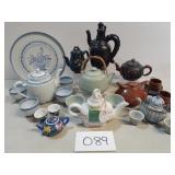 Large Lot of Novelty Tea Pots & Cups