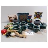 Large Lot of Southwestern Pottery & Decor