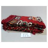 3 Vibrant Woven Tapestry/Rugs