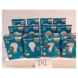 12 Ecosmart 100w 4 Bulb Packs - Unopened