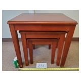 Set of 3 Wood Nesting Tables