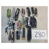 Lot of 20 Folding/Utility Knives