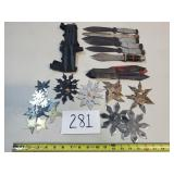 Large Lot of Throwing Knives & Blades