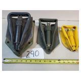 3 Metal Folding Shovels