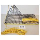 2 Portable Pyramid Style Crab Traps
