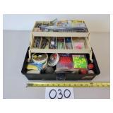 Assorted Fishing Tackle & Tackle Box (No Shipping)