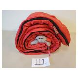 "Red Coleman Sleeping Bag (33"" x 75"")"
