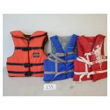 3 Adult Size Life Vests (No Shipping)