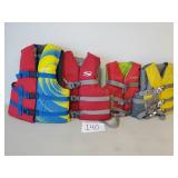4 Child & Youth Life Vests (No Shipping)