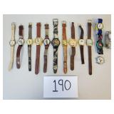 14 Novelty Watches (See Description)