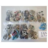 Large Lot Jewelry Parts & Pieces for Repurposing