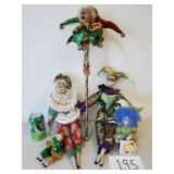 Various Porcelain Jester Dolls (No Shipping)