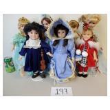 7 Various Porcelain Dolls (No Shipping)