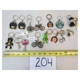 16 Novelty Key Chains (Mostly Oregon)