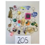 18 Novelty Key Chains