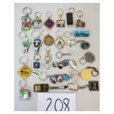 24 Novelty Key Chains